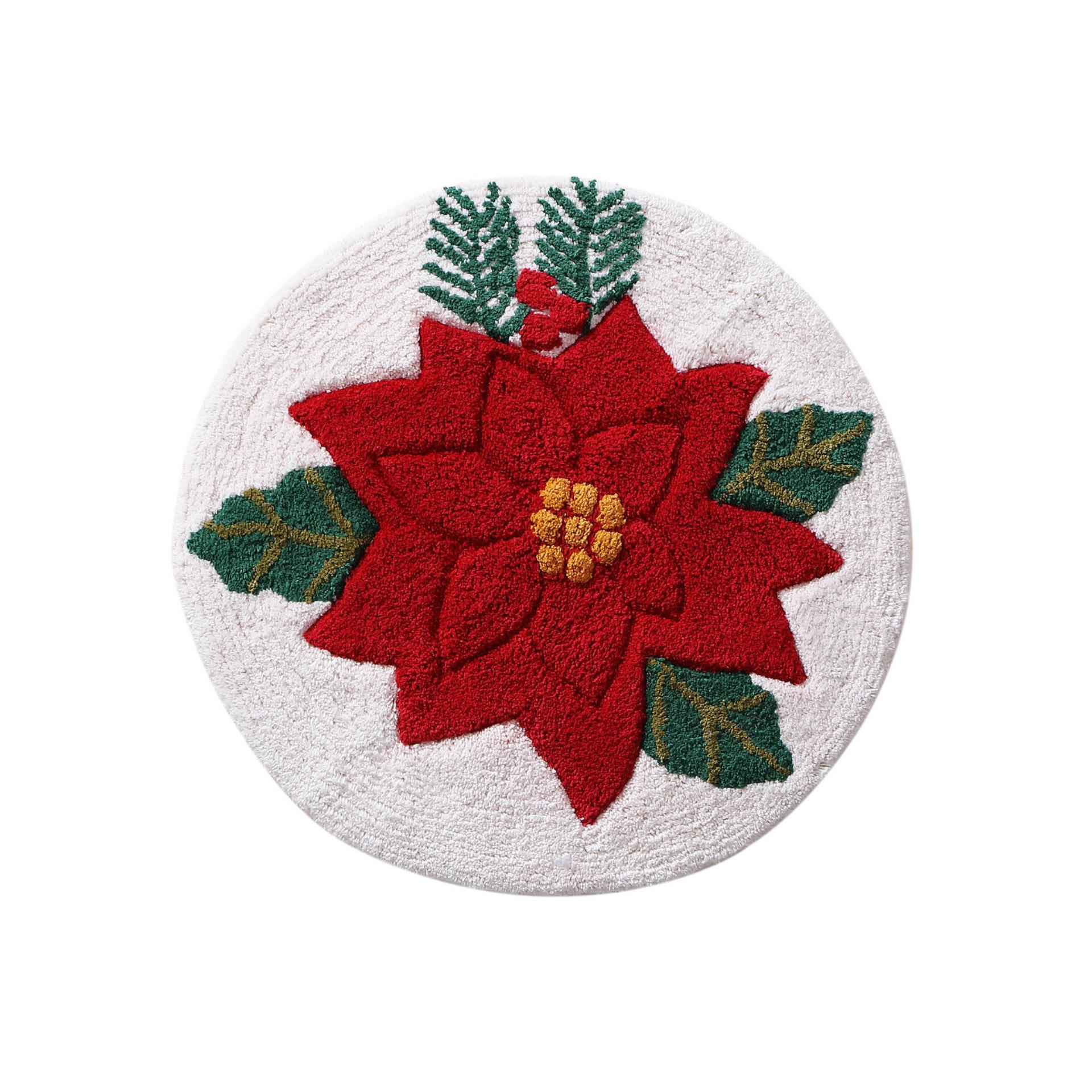 Round Rug Kmart Poinsettia 24 Quot Round Bath Rug Home Bed And Bath Bath