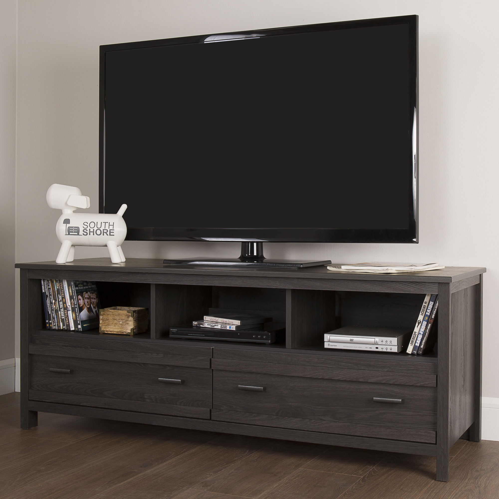 Tv Unit Canada South Shore Exhibit Tv Stand For Tvs Up To 60 39 39 Gray Oak