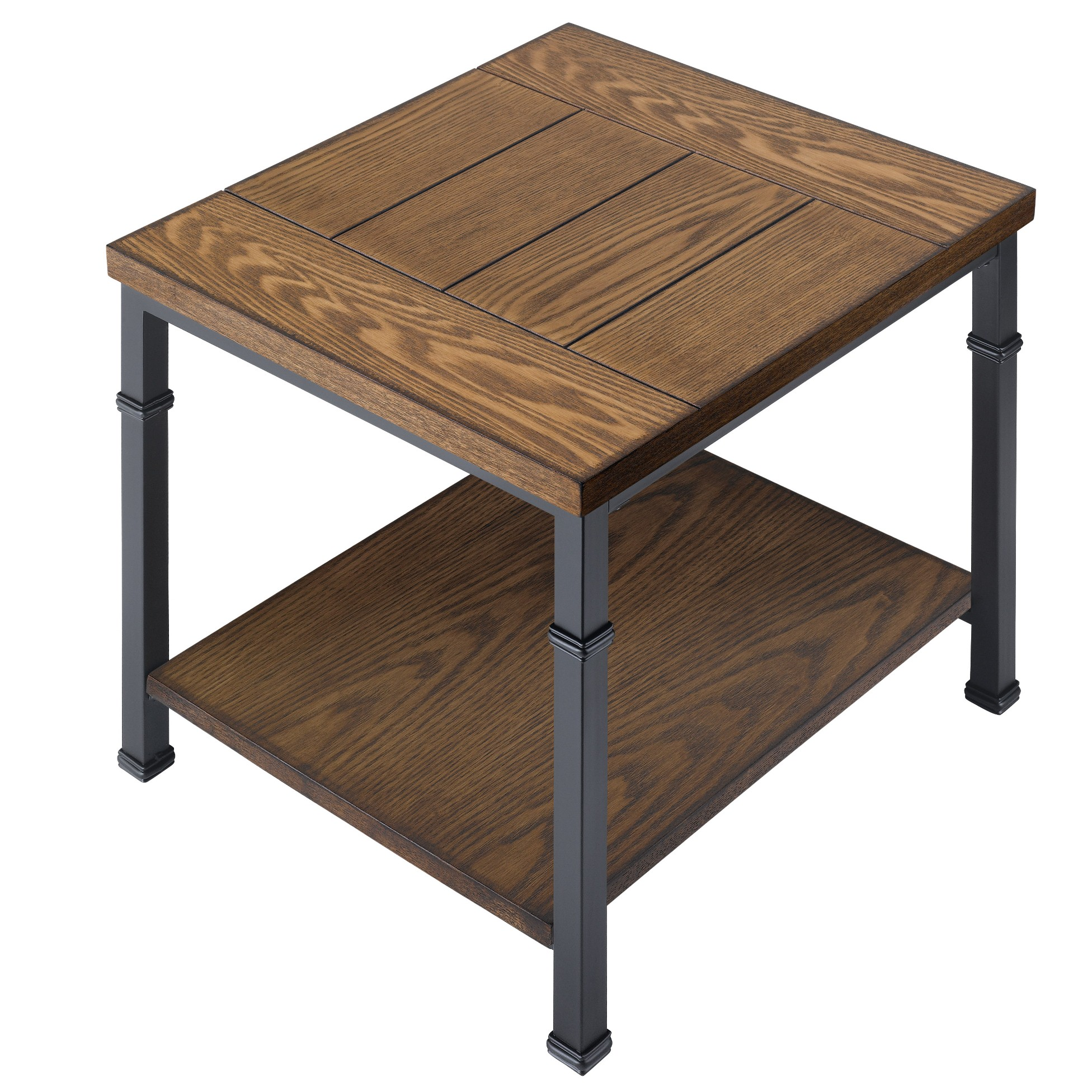 Wood And Metal Side Tables Essential Home Metal Wood End Table