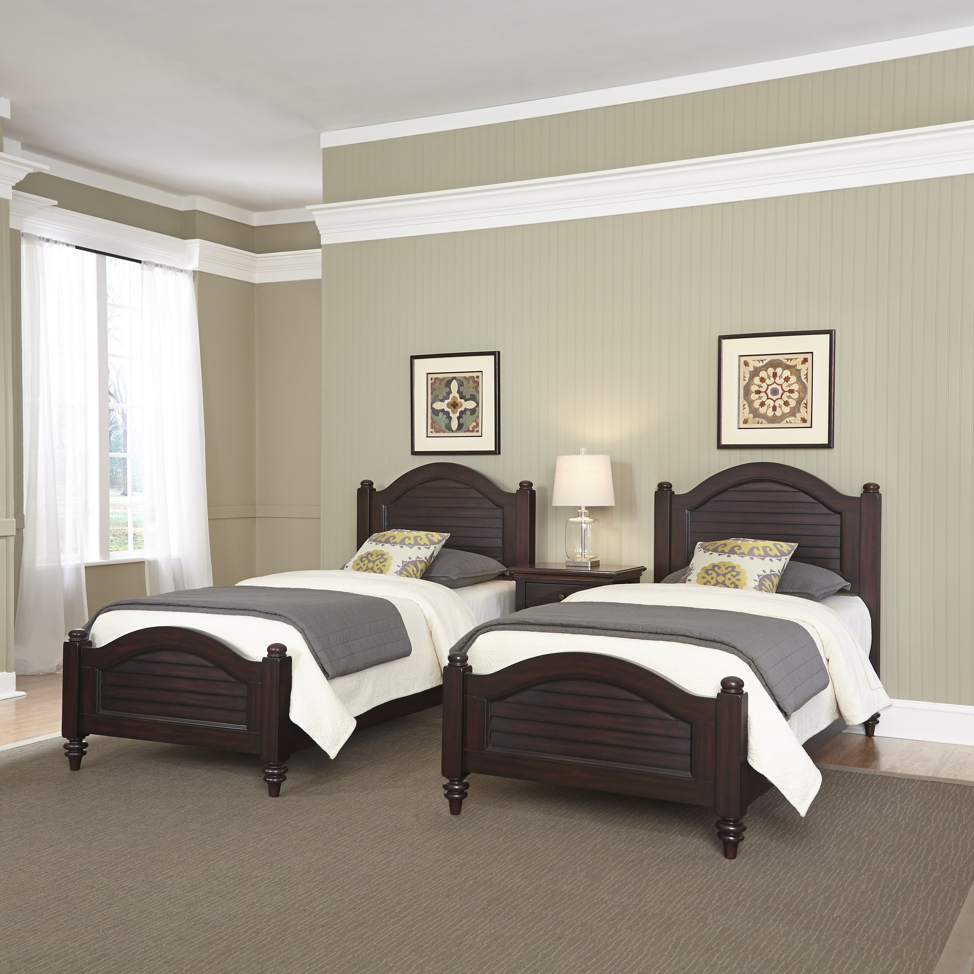 How To Be More Confident In Bed Home Styles Bermuda Espresso Two Twin Beds And Night Stand