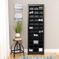 Prepac Space-Saving Shoe Storage Cabinet, Black
