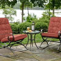 Jaclyn Smith Cora 3pc Rocker Bistro- Red - Outdoor Living ...