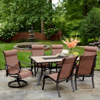 Jaclyn Smith Marion 6 Dining Chairs- Red - Outdoor Living ...