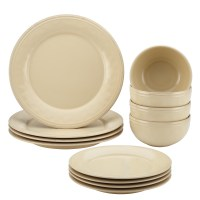 Rachael Ray Cucina 12-Piece Stoneware Dinnerware Set ...