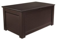 Rubbermaid Patio Chic  Storage Bench Deck Box - Outdoor ...