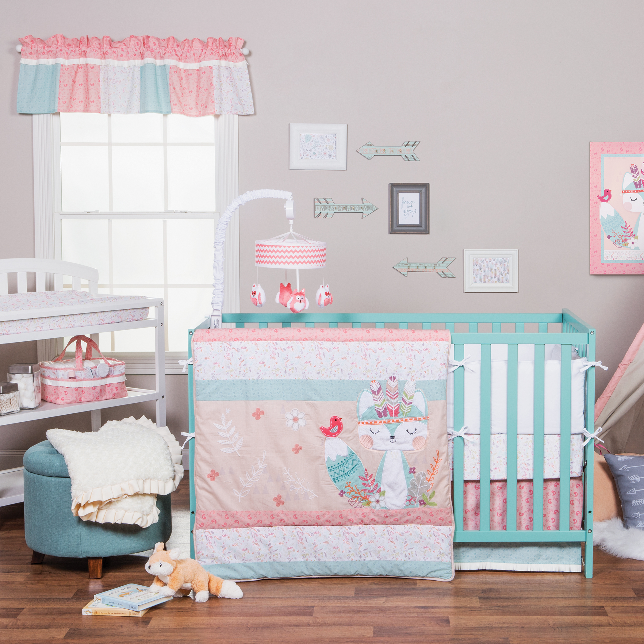 Full Crib Bedding Sets Trend Lab Wild Forever 3 Piece Crib Bedding Set
