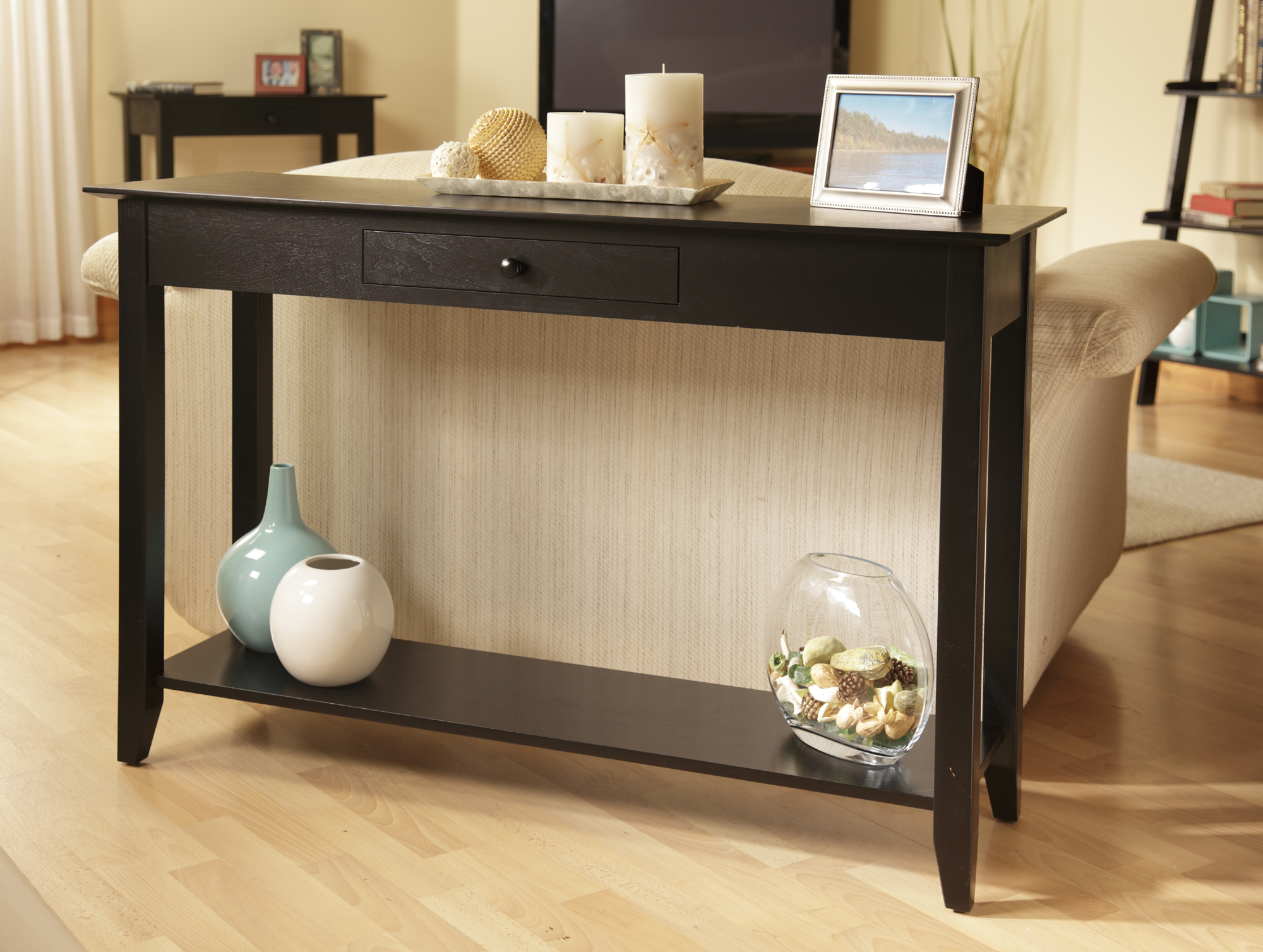 Narrow Entry Table Check Out Convenience Concepts American Heritage Console Table With Drawer Shopyourway