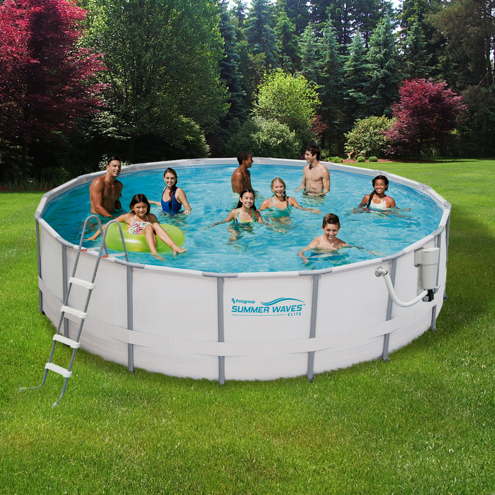 Poolabdeckung Winter Intex Summer Waves 15 Ft Round 48 Quot Deep Metal Frame Swimming