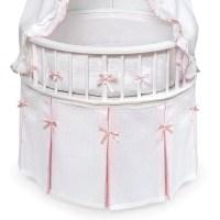 Badger Basket 00836 Elegance Round Bassinet - White/Pink ...