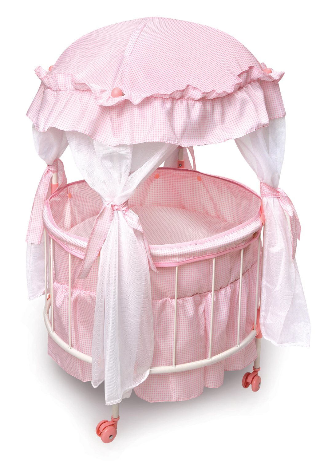 Baby Bassinet Liner Badger Basket Royal Pavilion Round Doll Crib With Canopy