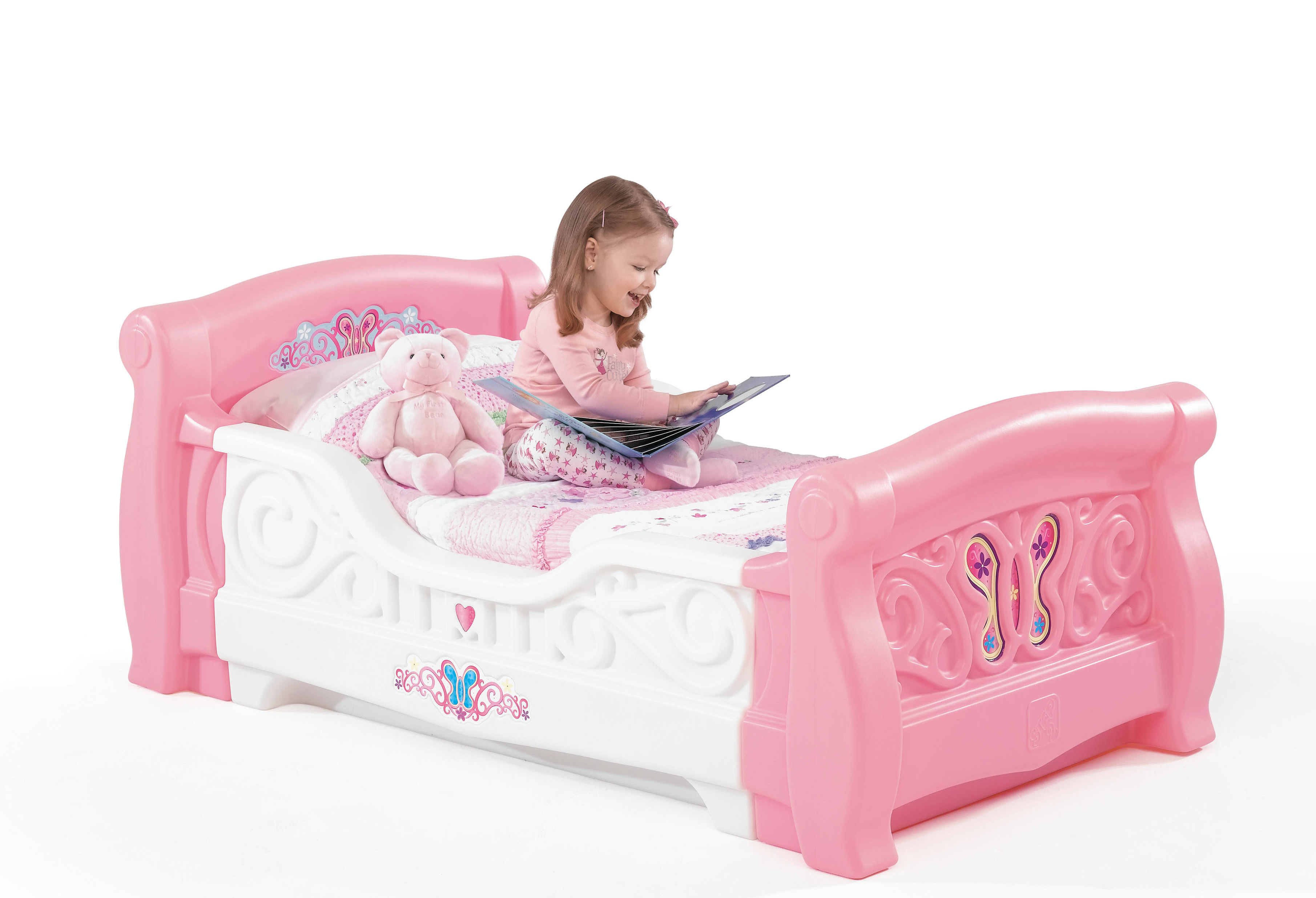 Toddler Bed For Girl Step 2 Girl 39s Toddler Sleigh Bed Baby Toddler