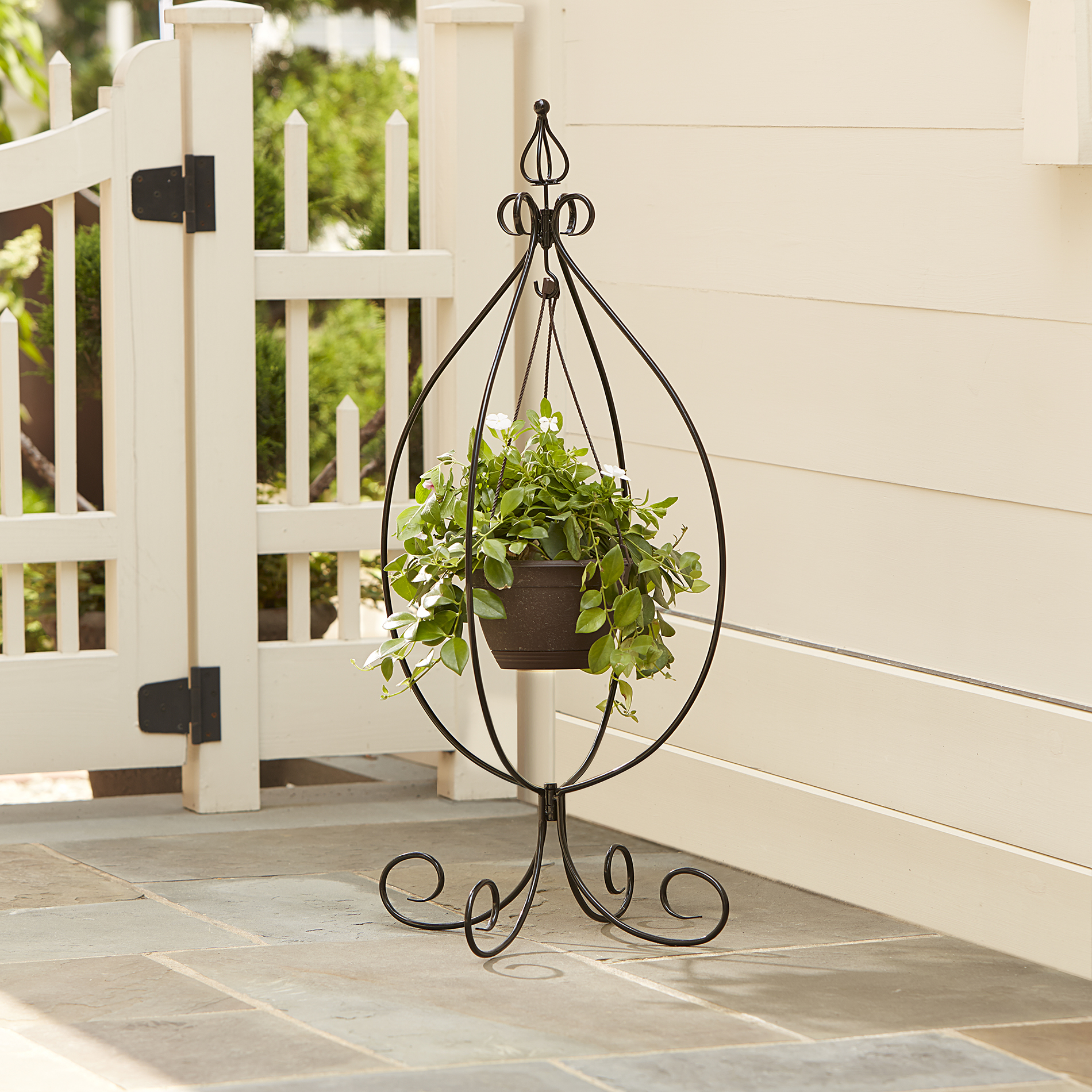 Plant Stands On Wheels Essential Garden Hanging Basket Plant Stand Shop Your