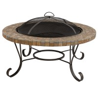 "BBQ Pro Slate Tile Top Fire pit, 34"" *Limited Availability*"