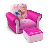 Delta Children Disney Princess Upholstered Chair with Ottoman