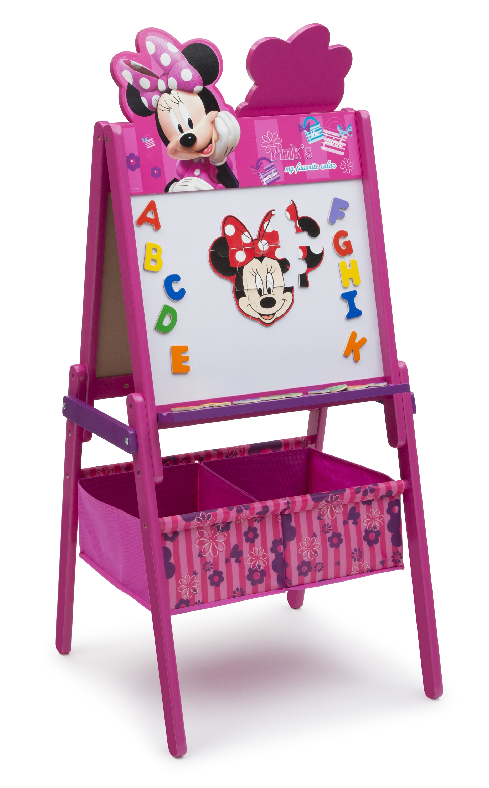 Double Sided Kids Desk Delta Children Minnie Mouse Wooden Double Sided Easel With