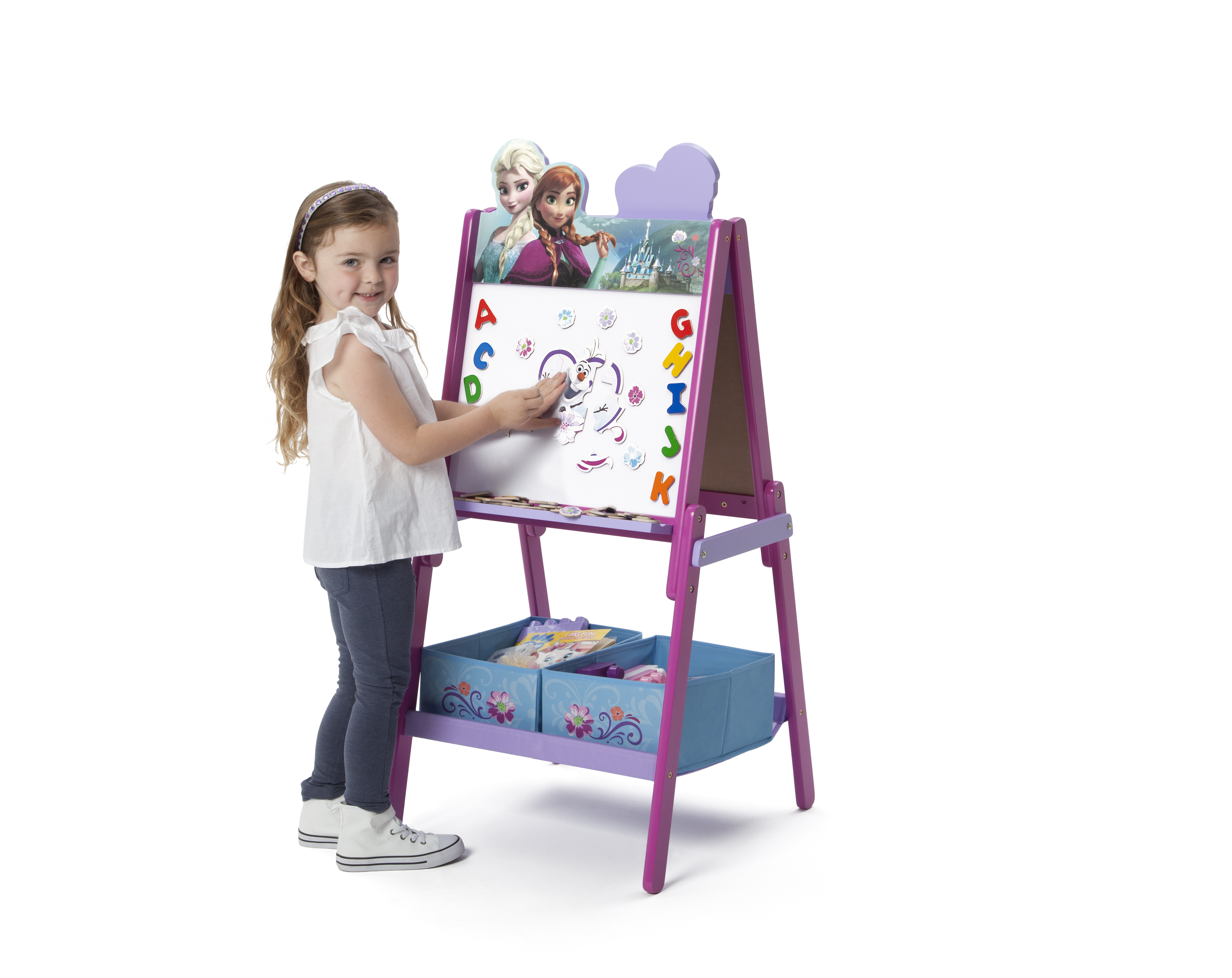 Double Sided Kids Desk Delta Children Frozen Wooden Double Sided Activity Easel