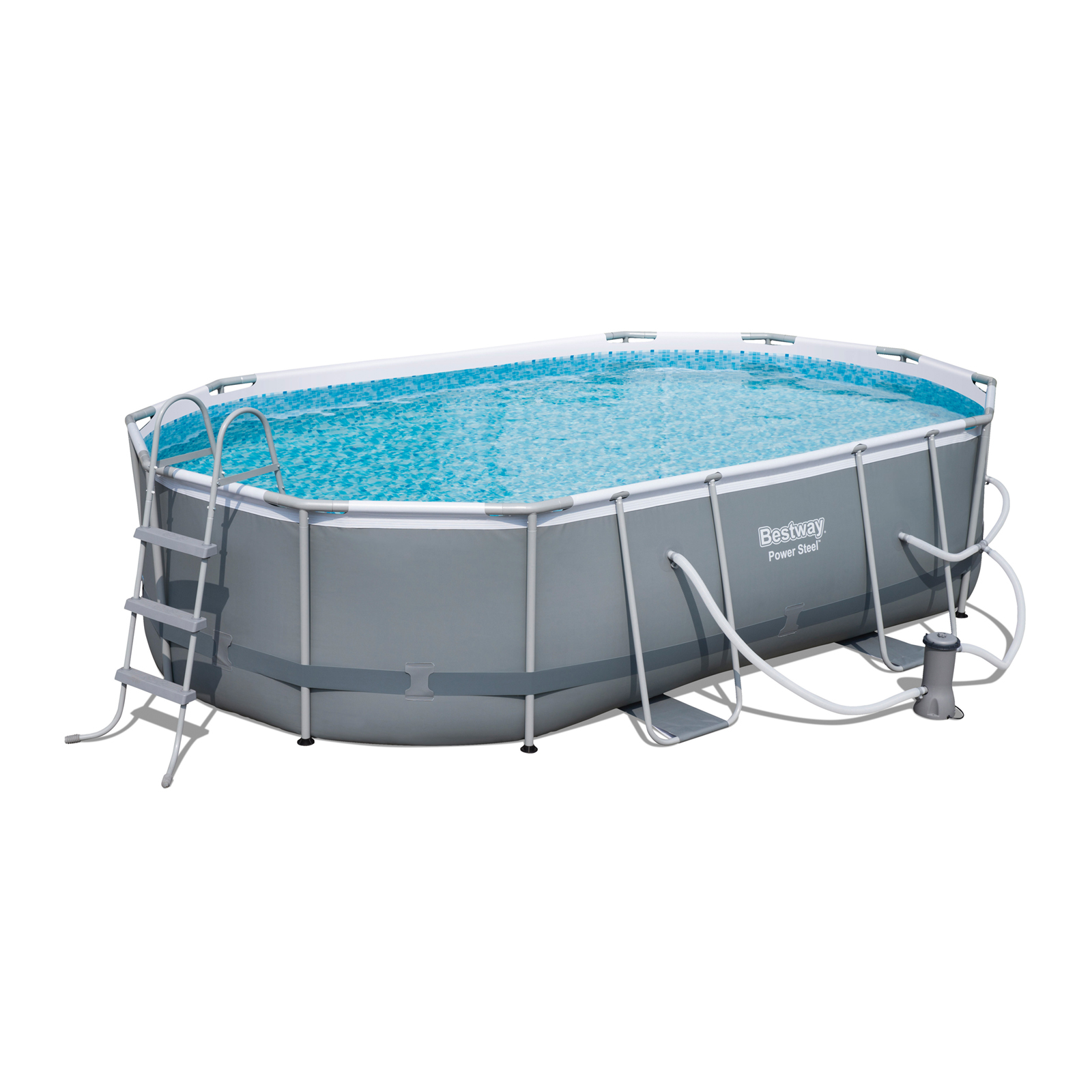 Bestway Pool Abdeckung Oval Bestway Power Steel 16 Foot X 10 Foot X 42 Inch Oval Frame