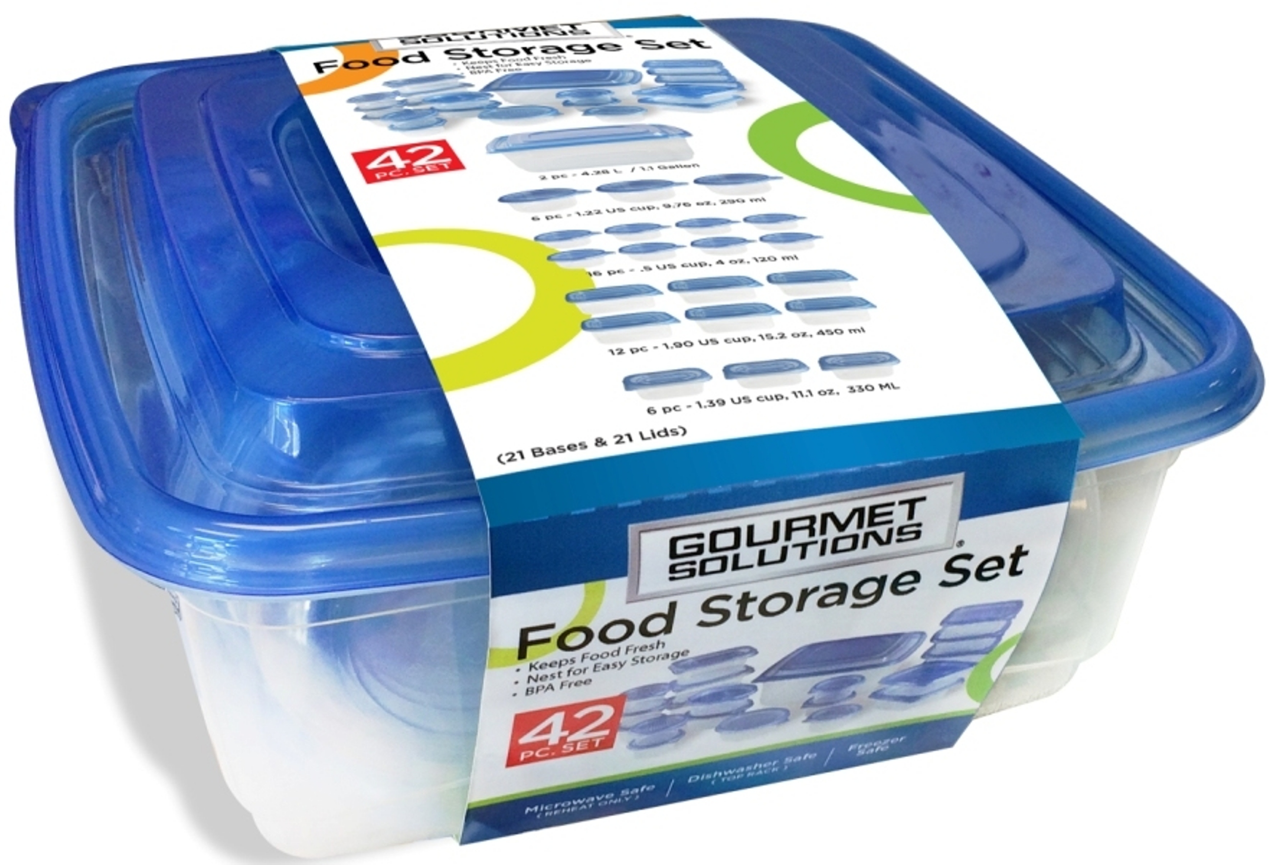 Solutions Storage Gourmet Solutions 42 Piece Food Solution Set