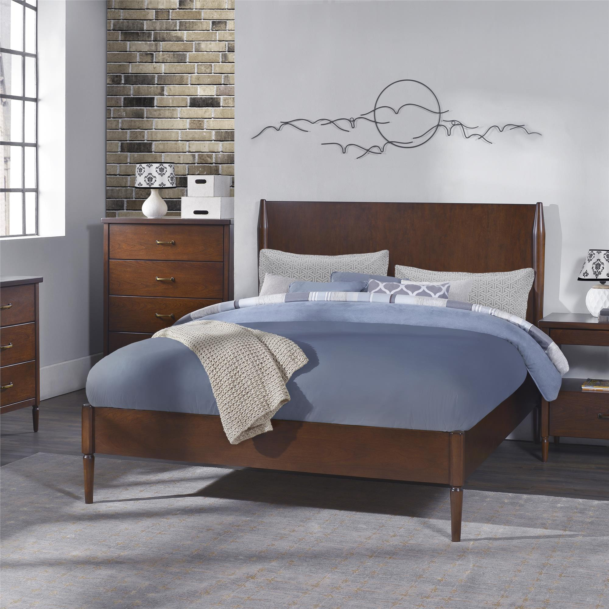 Queen Beds Online Dorel Brook Lane Walnut Queen Bed Shop Your Way Online