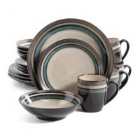 Gibson Lewisville 16 Piece Dinnerware Set, Teal