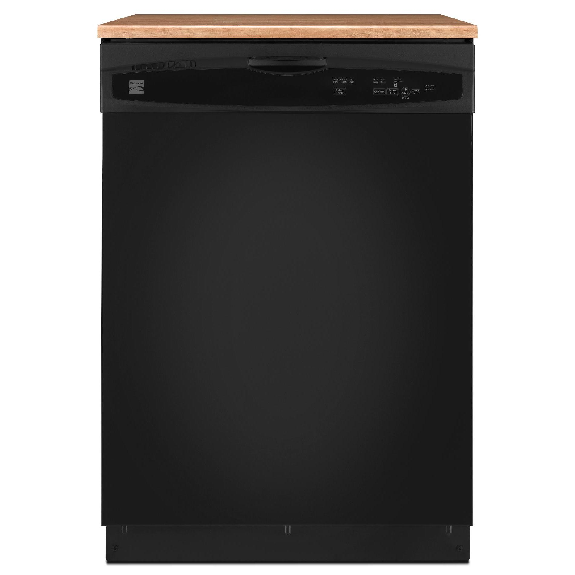 Dishwasher Dimensions Inches Kenmore 17159 24 Quot Portable Dishwasher Black