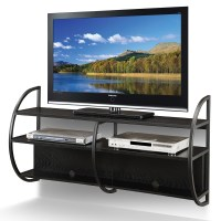 Leick Slate Oak Floating Wall Mounted TV Console