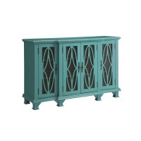 Venetian Worldwide Leila Teal Blue Accent Cabinet