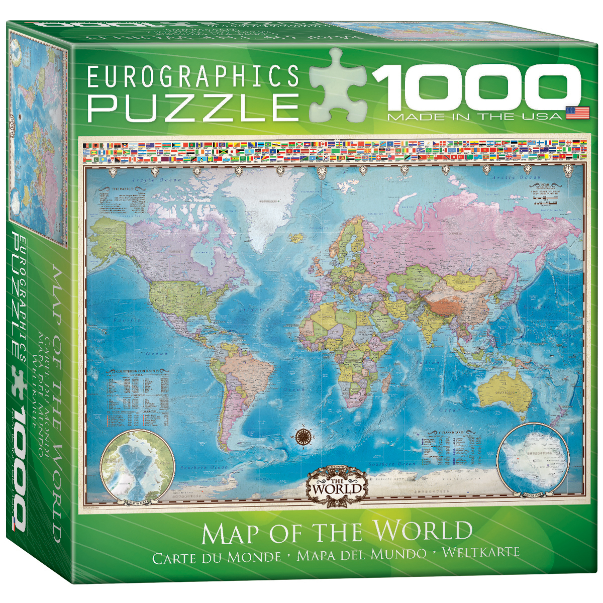 Kmart World Map Map Of The World W Flags Toys And Games Puzzles