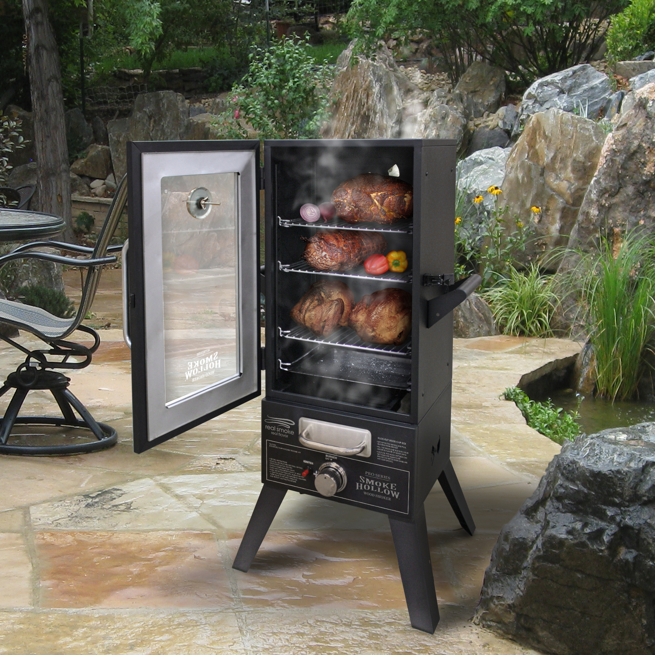 Store Vertical Exterieur Sunny Inch Smoke Hollow 36 Quot Two Door Lp Gas Smoker