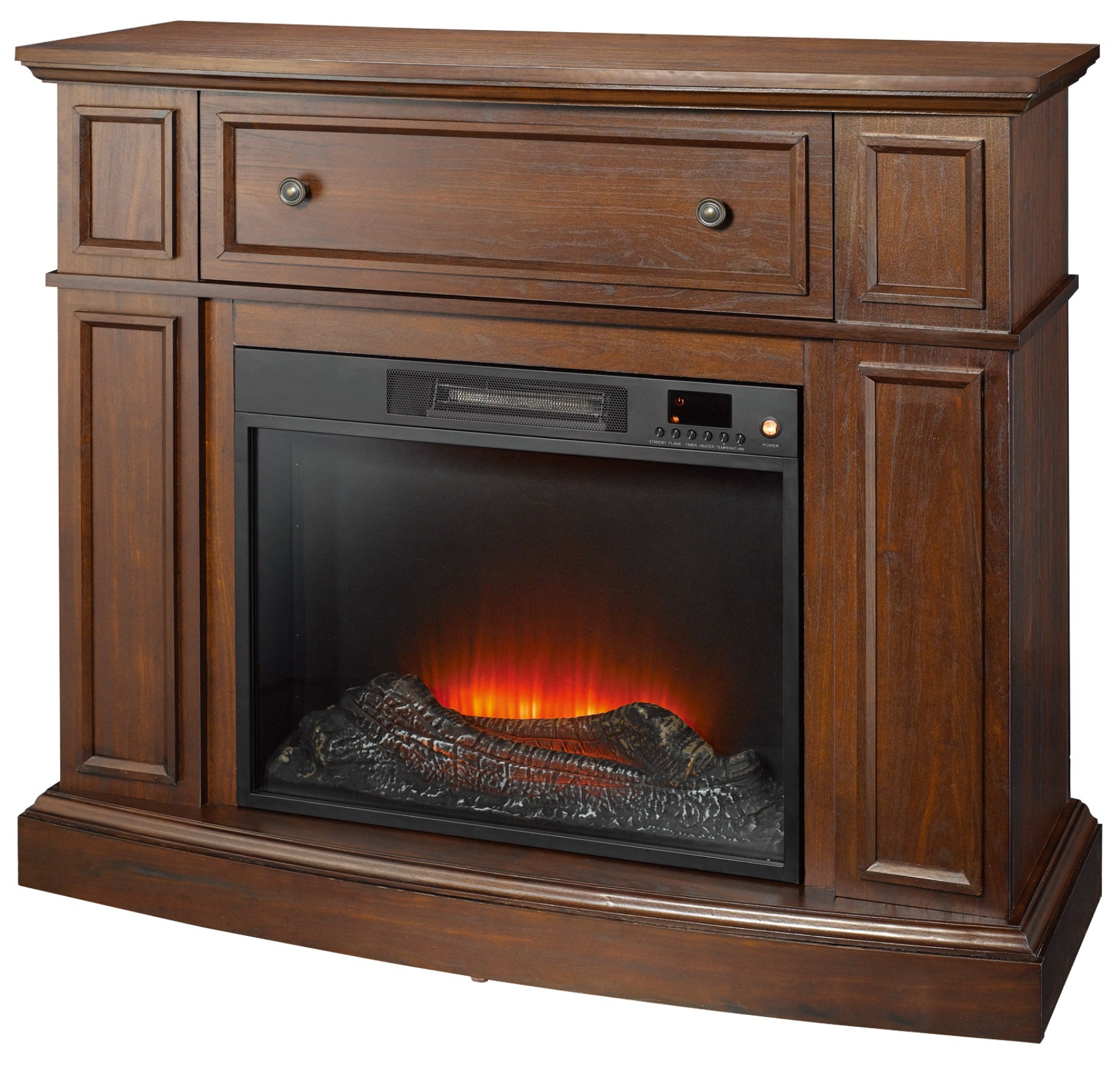 Electric Fireplace.com Essential Home Shaw Electric Fireplace Cherry