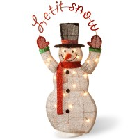 Lighted Christmas Snowman Outdoor Indoor Decoration Yard ...