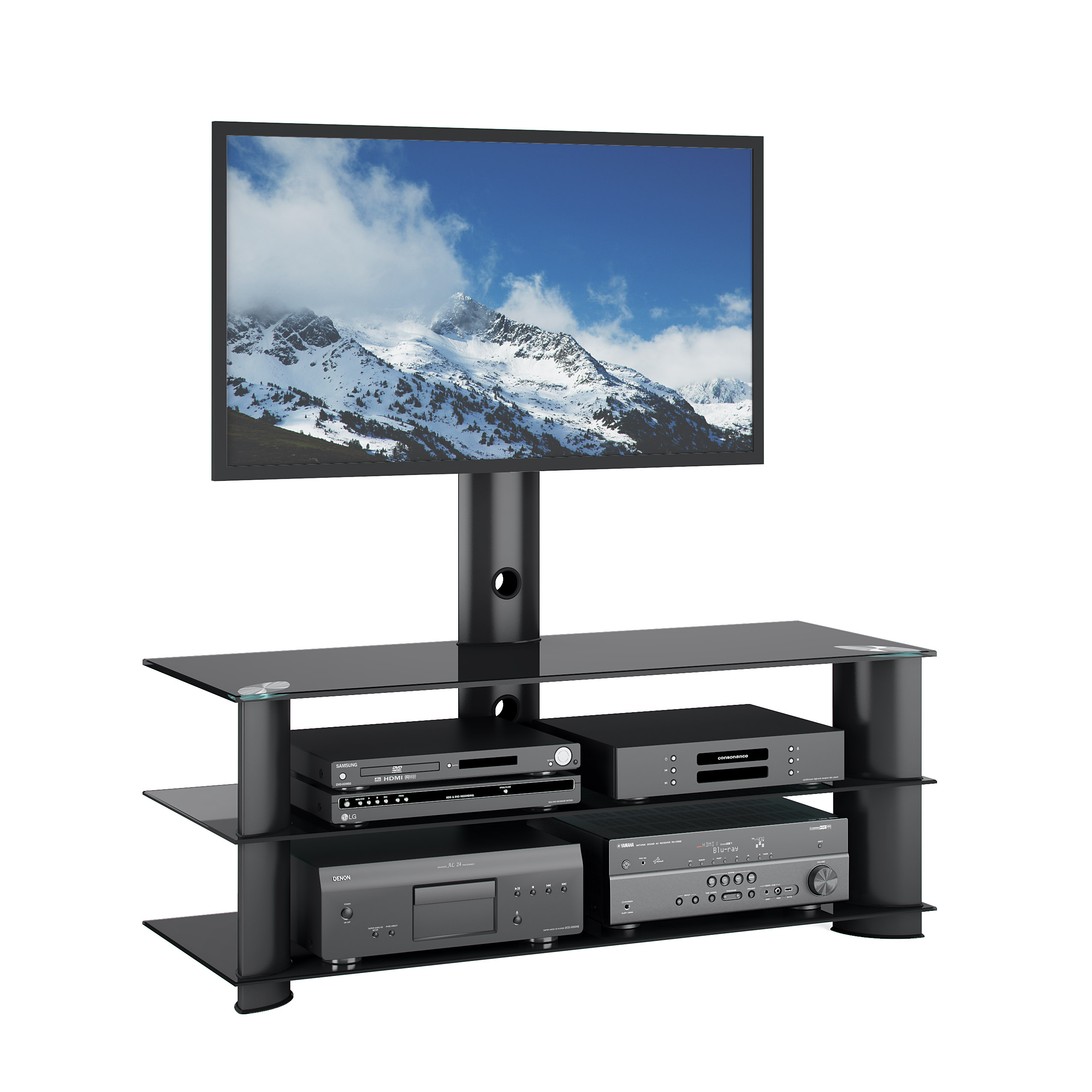 Kmart Tv Mount Black Component Tv Stand Kmart