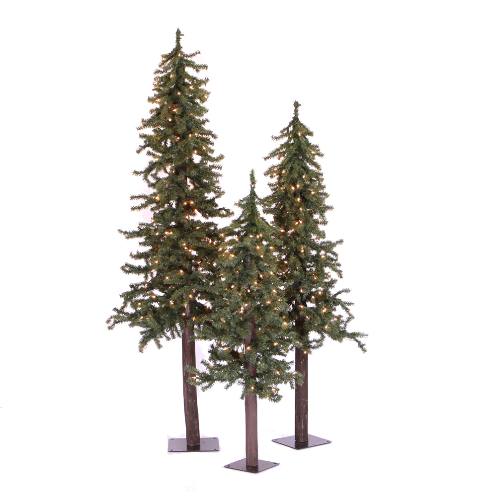 Mini Tannenbaum Vickerman 4 5 And 6 Natural Tree Triple Alpine Set With 500