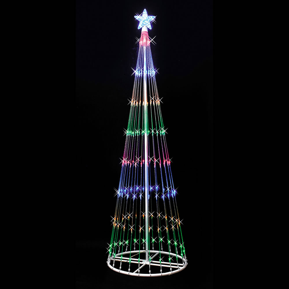 Christmas Led Lights Canada Vickerman 9 Light Show Artificial Christmas Tree