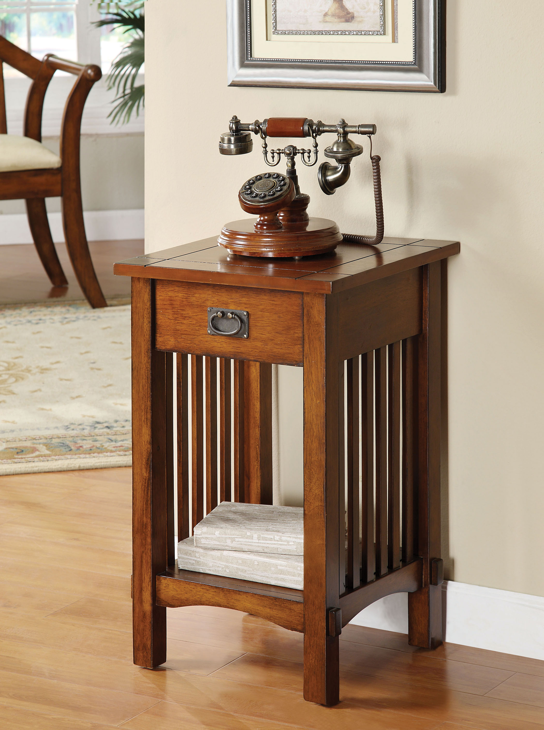 Oak Side Table With Drawer Furniture Of America Monka Mission Antique Oak Side Table