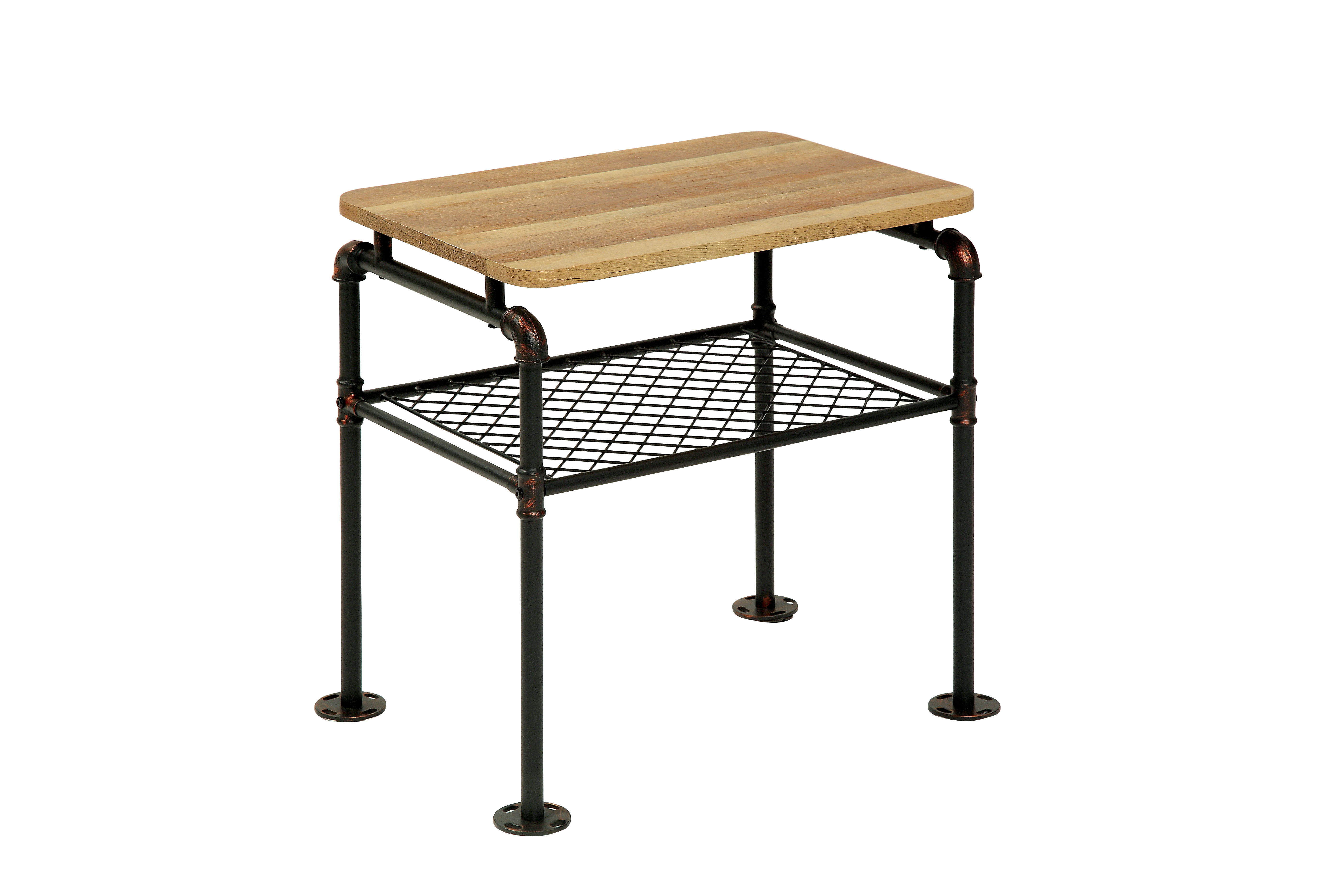 Industrial Look End Tables Furniture Of America Tiegan Industrial Style End Table