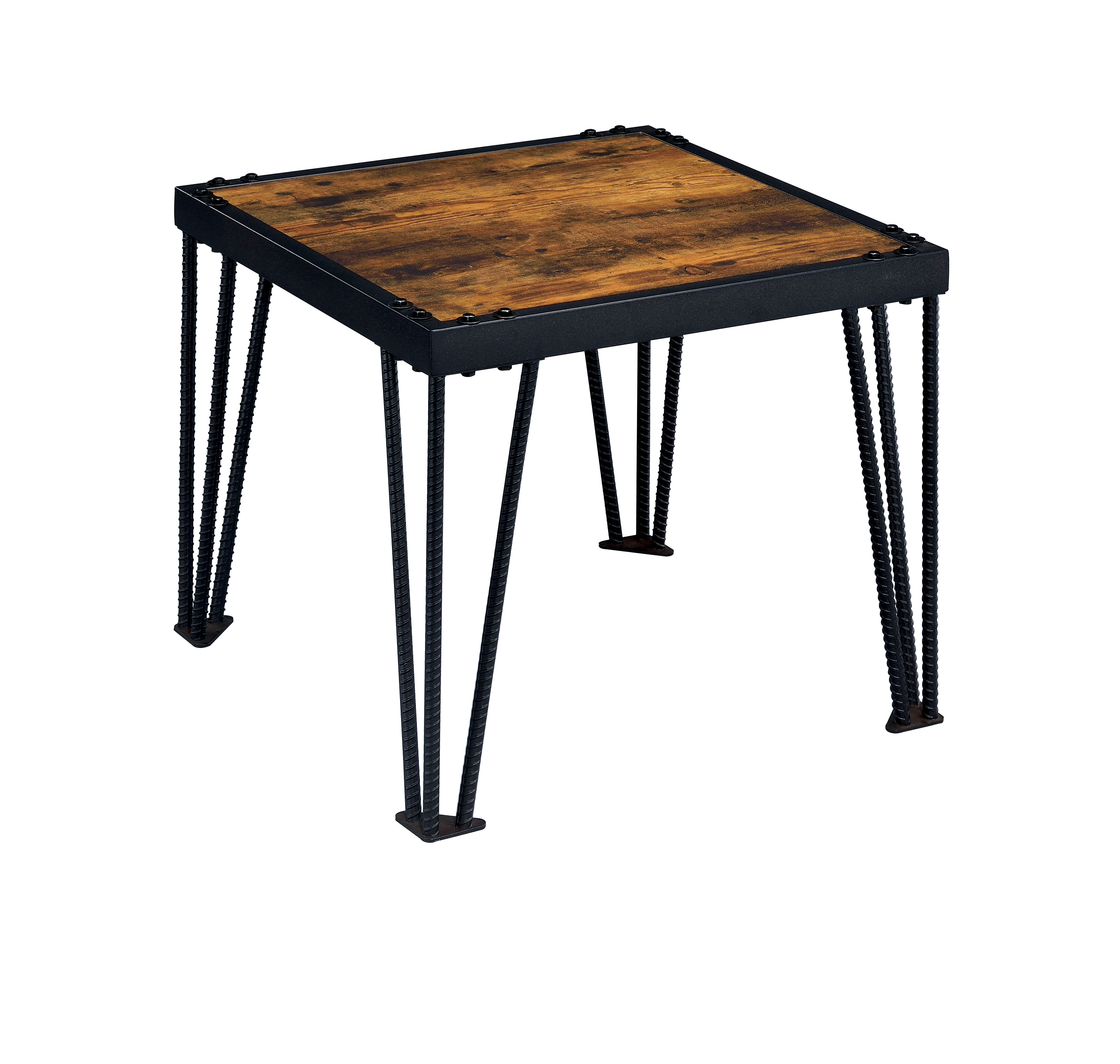 Industrial Look End Tables Furniture Of America Mally Industrial Style End Table