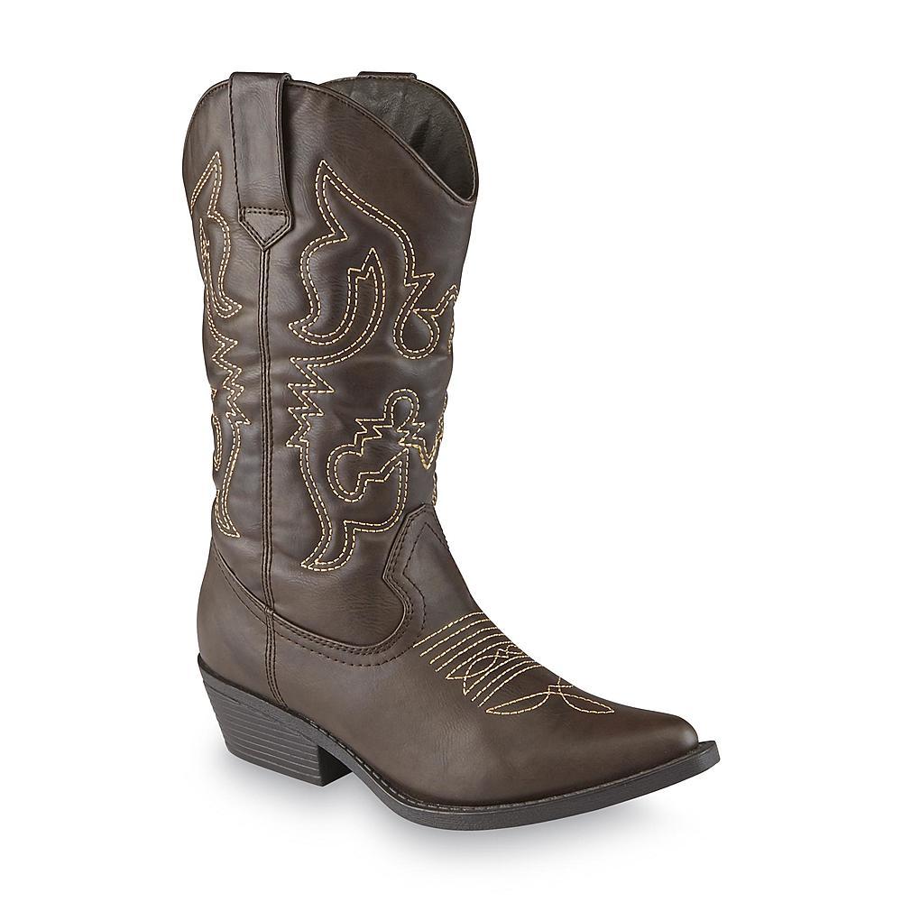 Intaglia Women39s Cisco Brown Cowboy Boot Wide Width