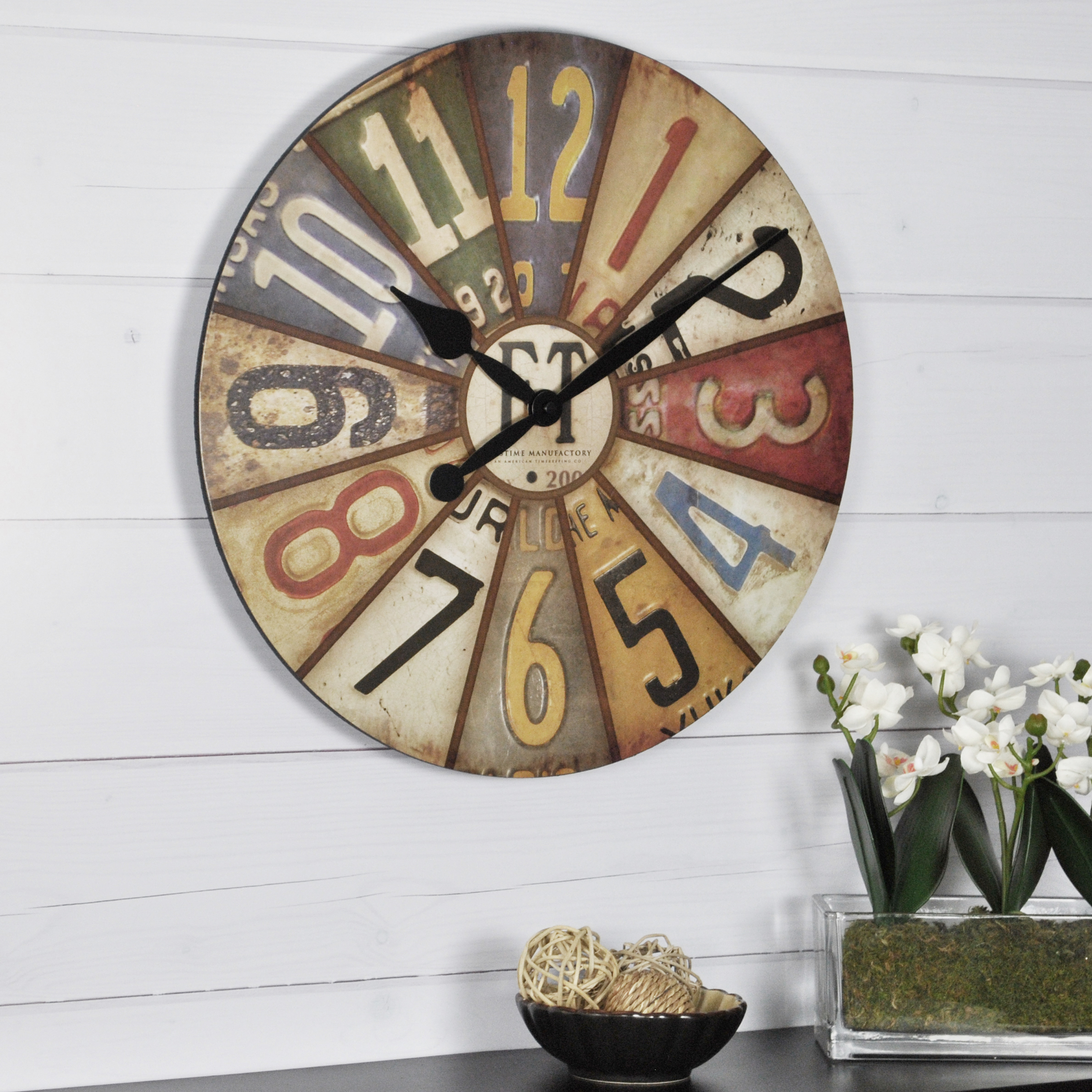 Statement Wall Clocks Firstime Vintage Plates Wall Clock