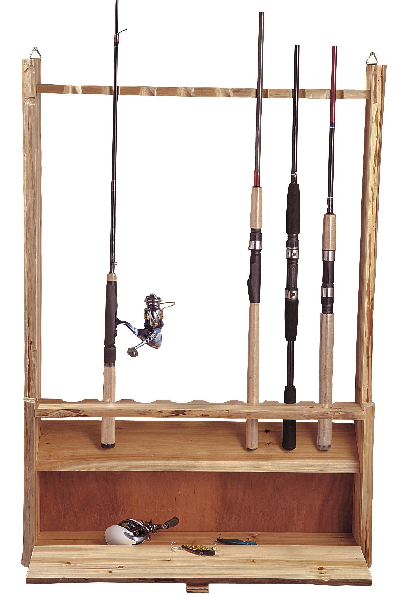 Fishing Rods Kmart Rush Creek 8 Rod Rack With Storage Base
