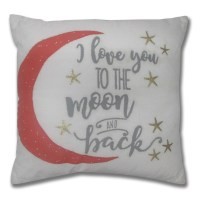 "I Love You to The Moon and Back"" Decorative Pillow 
