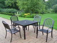 """Oakland Living 5 Pc. Patio Dining Set w/ 40x40"""" Table and ..."""