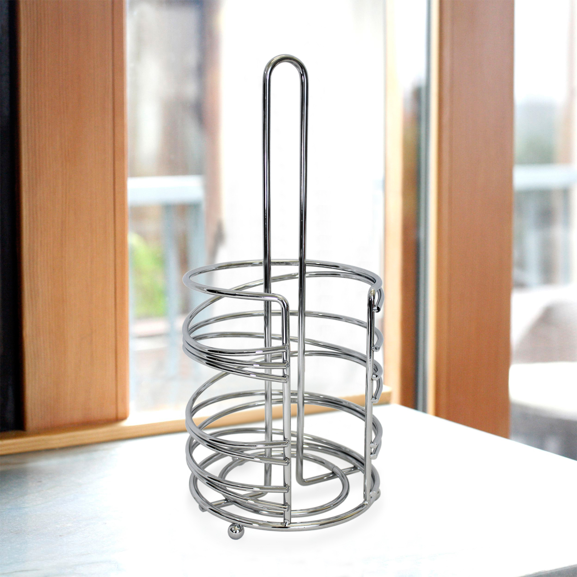 Paper Towel Holder Kmart Geo Collection Paper Towel Holder Chrome Shop Your Way