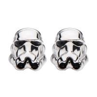 Star Wars 925 Sterling Silver Stormtrooper 3D Stud Earrings