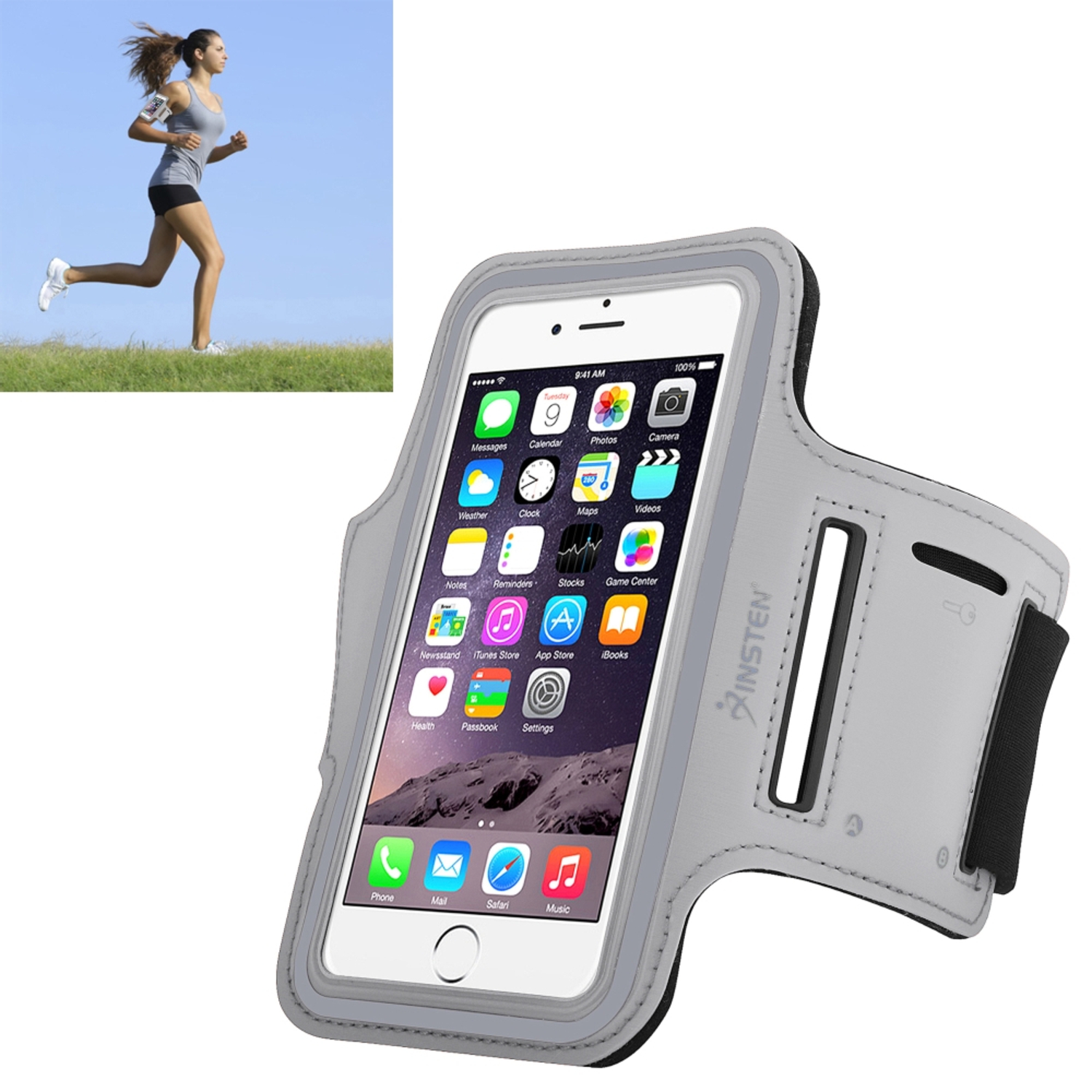 Insten 2037123 Universal Armband For Sports Gym Running