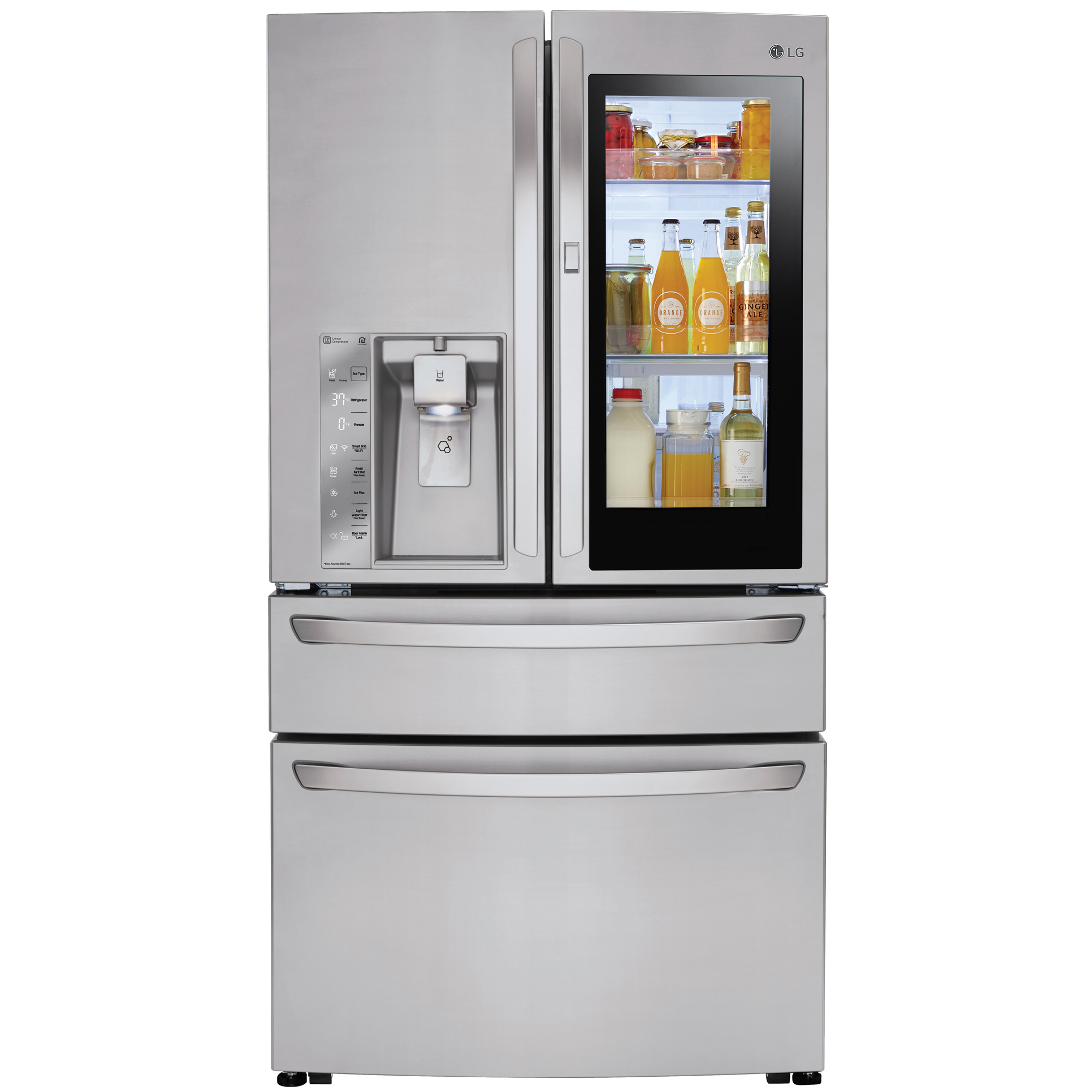 Kuche Bar Fridge Review Lg Lmxs30796s Smart Wi Fi Enabled 4 Door Instaview Door