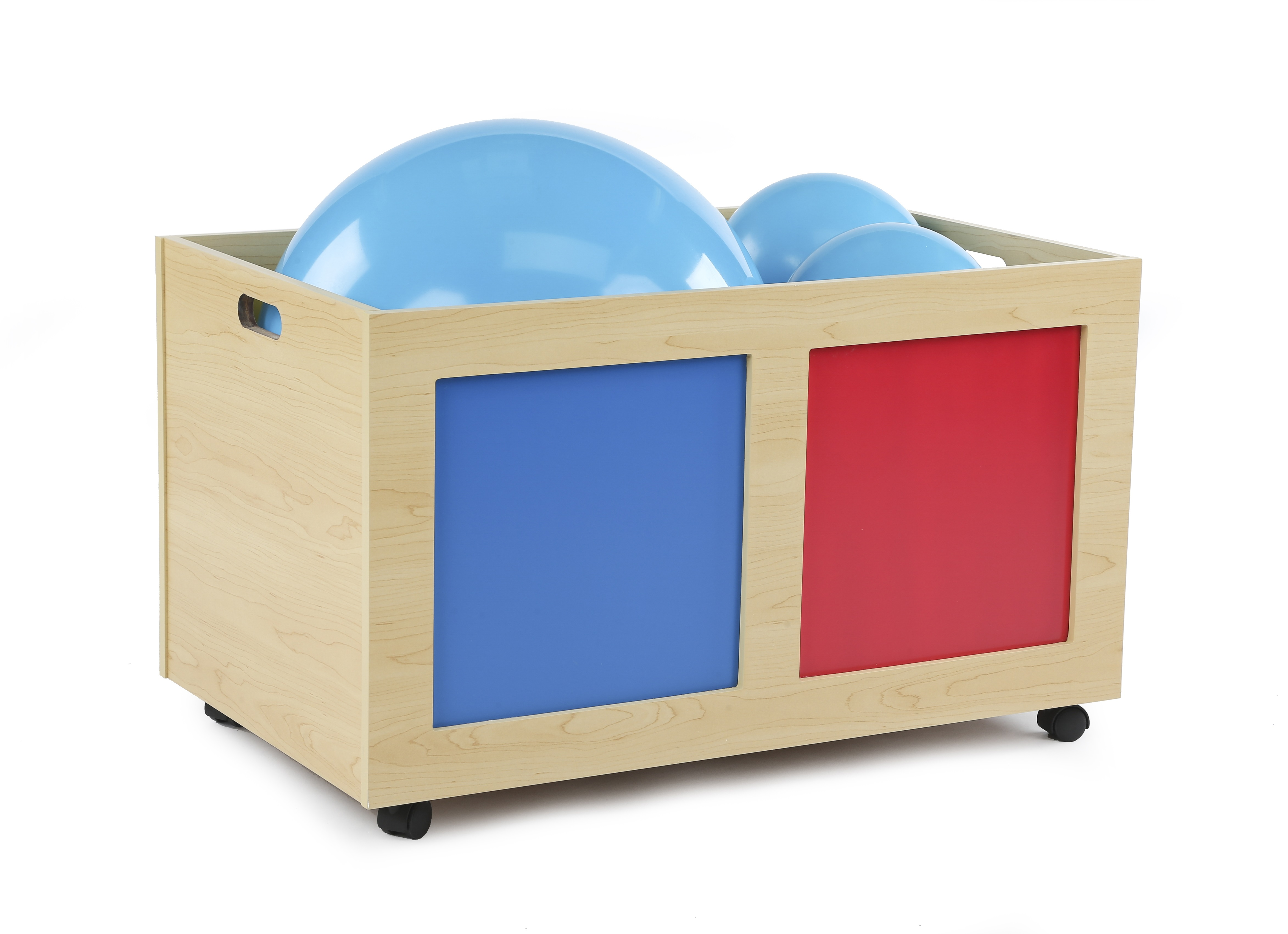 Tot Tutors Kids Rolling Toy Box Primary Colors