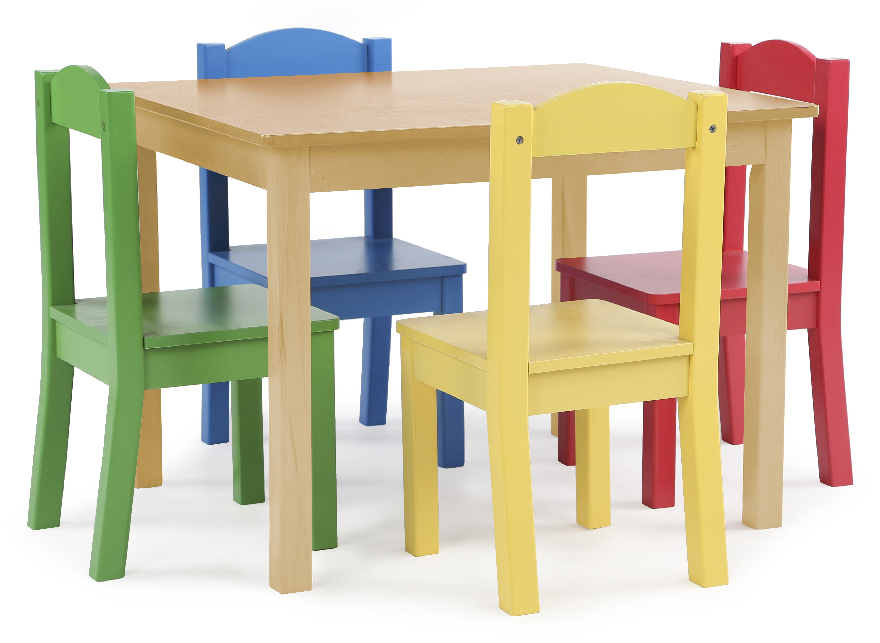 Kids Wooden Chair Tot Tutors Kids Wood Table And 4 Chairs Set Natural