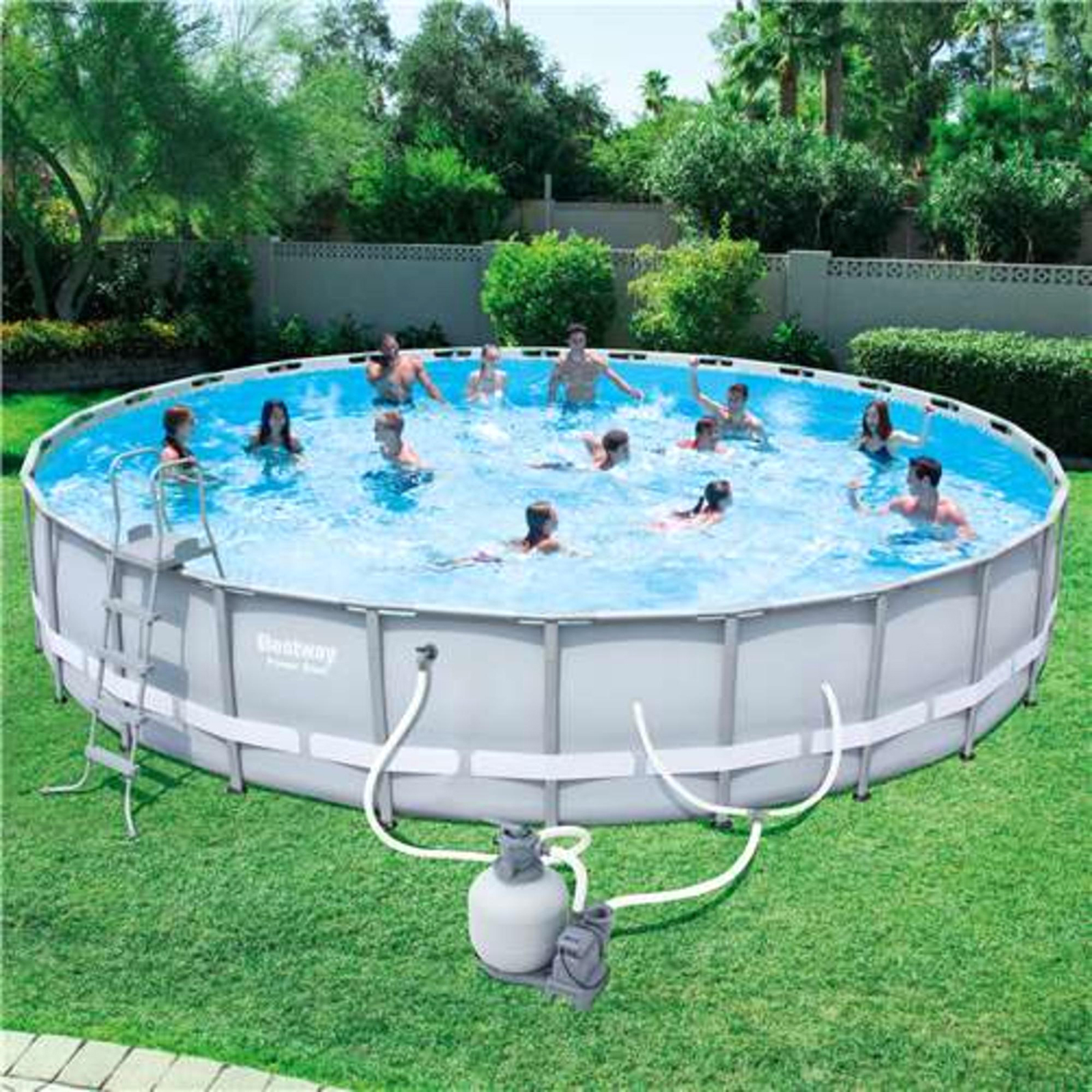 Pool Pumpe Anschließen Anleitung Bestway Bestway Steel Pro 26 39 X 52 Quot Frame Pool With Pump Sears