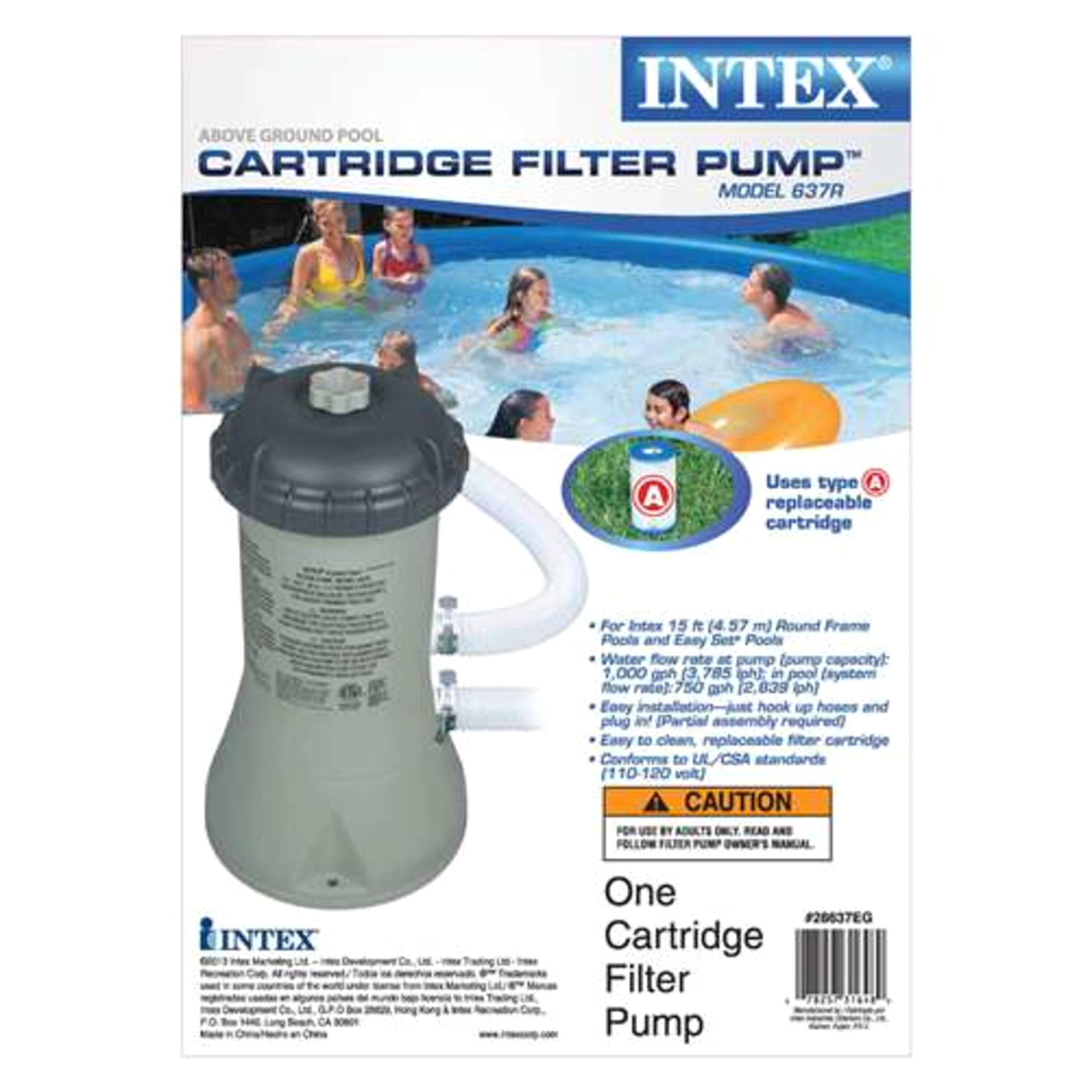 Intex Pool Filter Pump Parts Intex 1000gph Filter Pump For Above Ground Pools Sears